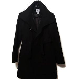 Black worthington womans small pea coat